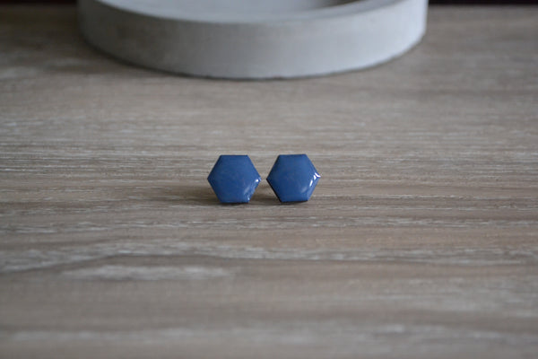 Night Sky Hexagon Studs