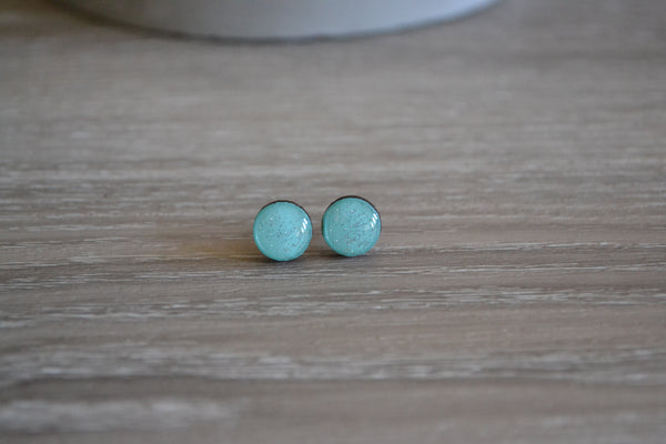 Small Coastal Waters Glitter Studs