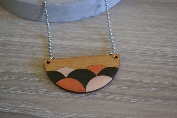 Half Circle Pendant Necklace