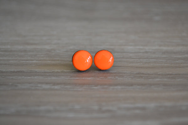 Small Bright Orange Studs