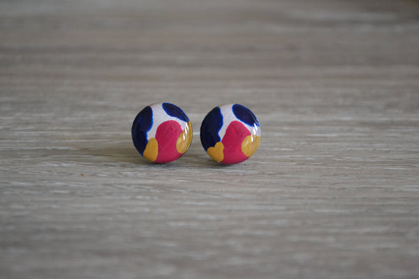Tri Coloured Studs