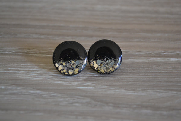 Black & Gold Statement Studs