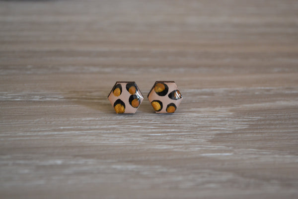 Small Gold Leopard Studs