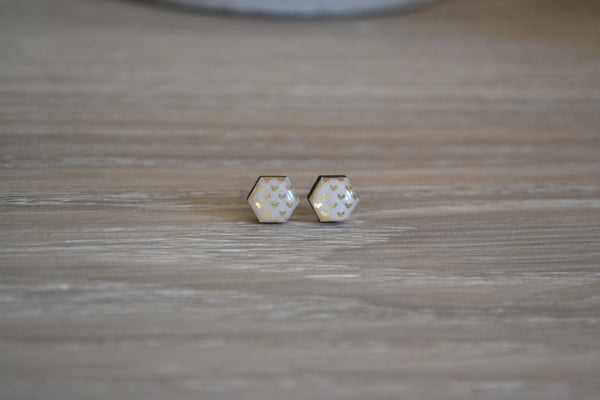 Tiny Gold Heart Studs