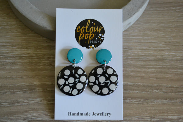 Coastal Pattern Dangle Studs