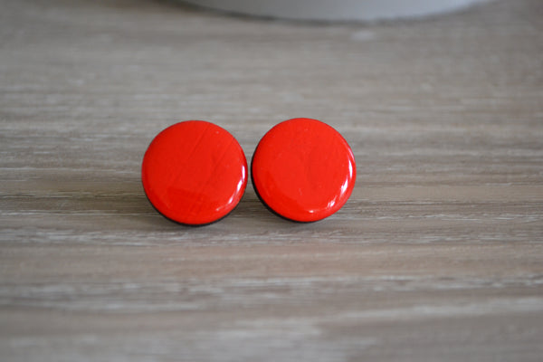 Red Statement Studs