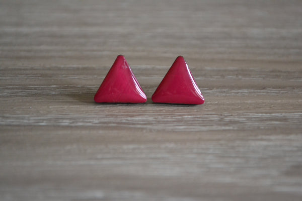 Berry Triangle Studs