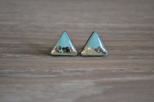 Coastal Waters Triangle Studs