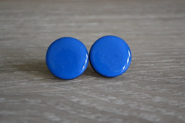 Blue Statement Studs
