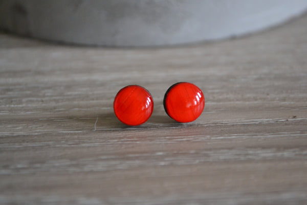 Small Bright Red Studs