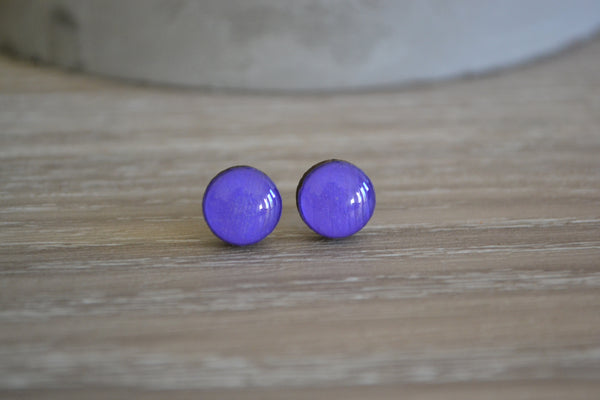 Small Purple Round Studs