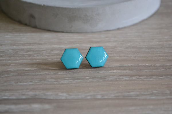 Coastal Waters Hexagon Studs