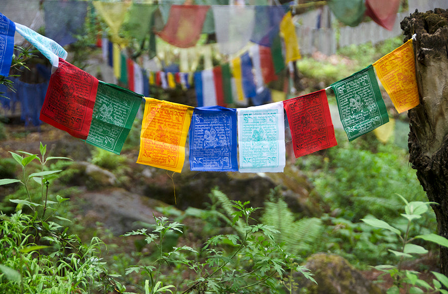 Buddhist prayer flags - Hand made in Bhutan
