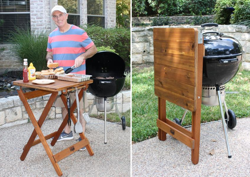 From Heating To Eating, Take Your Grilling To New Heights With This  Beautiful And Multi Functional Folding BBQ Table. The Handy Stand BBQ Table  Is A Great ...