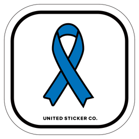 Badge_Icon_Awareness_Blue Ribbon_Vinyl_Sticker