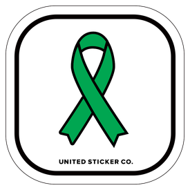 Badge_Icon_Awareness_Green Ribbon_Vinyl_Sticker