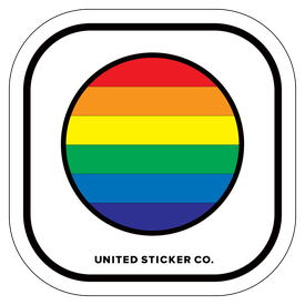 Badge_Lettering_Awareness_RAINBOW CIRCLE_Vinyl_Sticker
