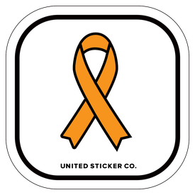 Badge_Icon_Awareness_Orange Ribbon_Vinyl_Sticker