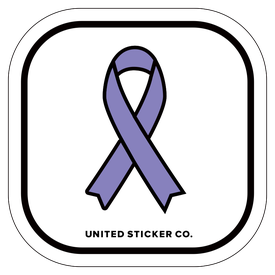 Badge_Icon_Awareness_Purple Ribbon_Vinyl_Sticker