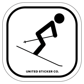 Badge_Stick figure_Sports & Recreation_Downhill Skiing 'Skier'_Vinyl_Sticker