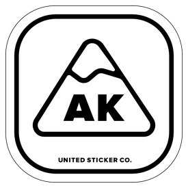 Badge_Mountain_Words & Phrases_Alaska [ AK ]_Vinyl_Sticker