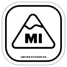 Badge_Mountain_Places_Michigan [ MI ]_Vinyl_Sticker