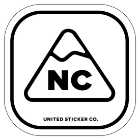 Badge_Mountain_Places_North Carolina [ NC ]_Vinyl_Sticker