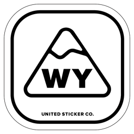 Badge_Mountain_Places_Wyoming [ WY ]_Vinyl_Sticker