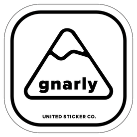 Badge_Mountain_Words & Phrases_[ Gnarly ]_Vinyl_Sticker