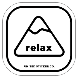 Badge_Mountain_Words & Phrases_[ Relax ]_Vinyl_Sticker