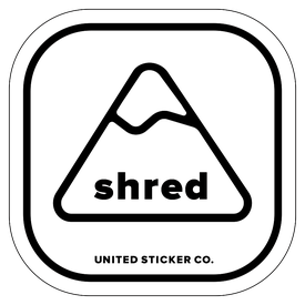 Badge_Mountain_Words & Phrases_[ Shred ]_Vinyl_Sticker