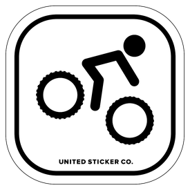 Badge_Stick Figure_Sports & Recreation_Downhill MTB_Vinyl_Sticker