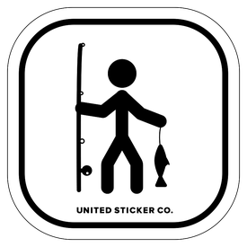 Badge_Stick figure_Sports & Recreation_Fly Fishing_Vinyl_Sticker