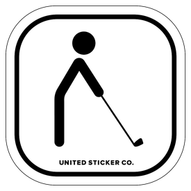 Badge_Stick figure_Sports & Recreation_Golfing_Vinyl_Sticker