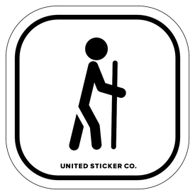 Badge_Stick figure_Sports & Recreation_Hiking_Vinyl_Sticker