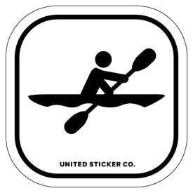 Badge_Stick Figure_Sports & Recreation_Kayak_Vinyl_Sticker