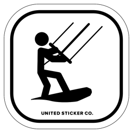 Badge_Stick figure_Sports & Recreation_Kiteboarding_Vinyl_Sticker