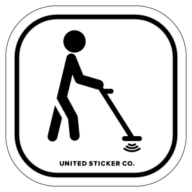 Badge_Stick figure_Sports & Recreation_Metal Detector_Vinyl_Sticker