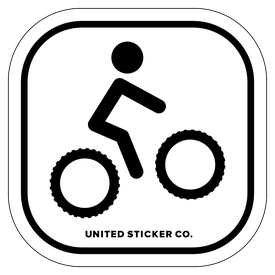 Badge_Stick figure_Sports & Recreation_Mountain Bike MTB_Vinyl_Sticker