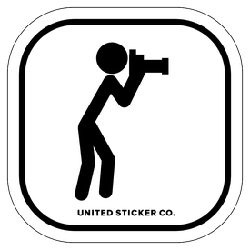 Badge_Stick figure_Sports & Recreation_Photography_Vinyl_Sticker
