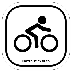 Badge_Stick figure_Sports & Recreation_Road Bike_Vinyl_Sticker
