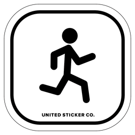 Badge_Stick figure_Sports & Recreation_Running_Vinyl_Sticker