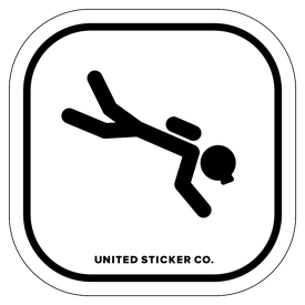 Badge_Stick Figure_Sports & Recreation_Scuba Diving_Vinyl_Sticker