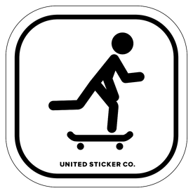 Badge_Stick figure_Sports & Recreation_Skateboarding_Vinyl_Sticker
