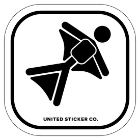 Badge_Stick figure_Sports & Recreation_Skydiving_Vinyl_Sticker
