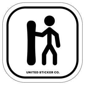 Badge_Stick Figure_Sports & Recreation_Snowboarding_Vinyl_Sticker