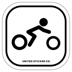 Badge_Stick Figure_Sports & Recreation_Motorocycle Sport_Vinyl_Sticker
