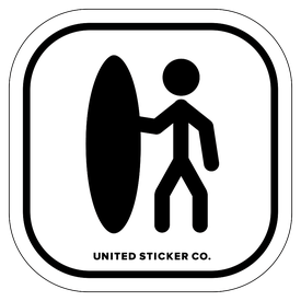 Badge_Stick figure_Sports & Recreation_Surfer_Vinyl_Sticker
