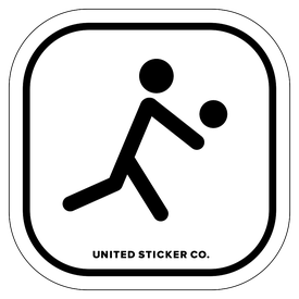Badge_Stick figure_Sports & Recreation_Volleyball_Vinyl_Sticker