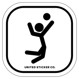 Badge_Stick Figure_Sports & Recreation_Volleyball Jump_Vinyl_Sticker
